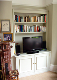 Traditional Bespoke Fitted Alcove Cupboard & Shelving Unit Newcastle
