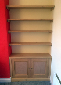 Bespoke Fitted Alcove Cupboard & Shelving Newcastle