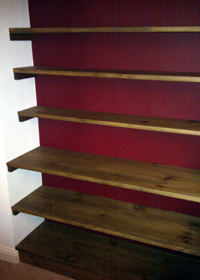 GOSFORTH CARPENTRY & DESIGN: Alcove Shelving